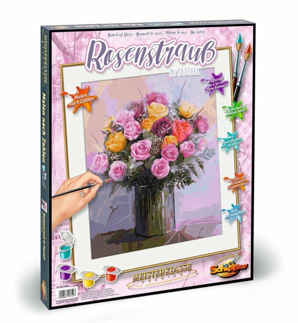Schipper 609130749 Bunch of Roses Paint By Numbers Board