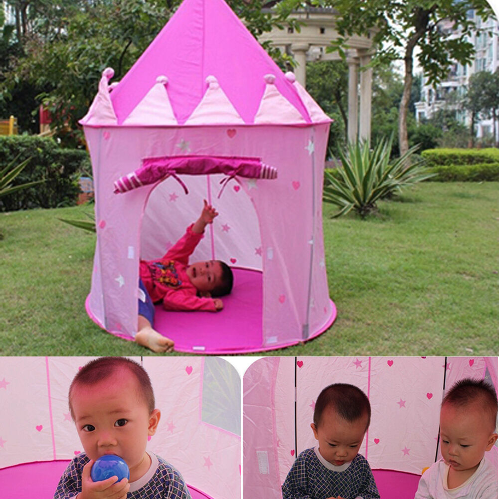 Picture 1 of 12 ...  sc 1 st  eBay & Outdoor Indoor Portable Pink Fairy Princess Castle Play Tent House ...