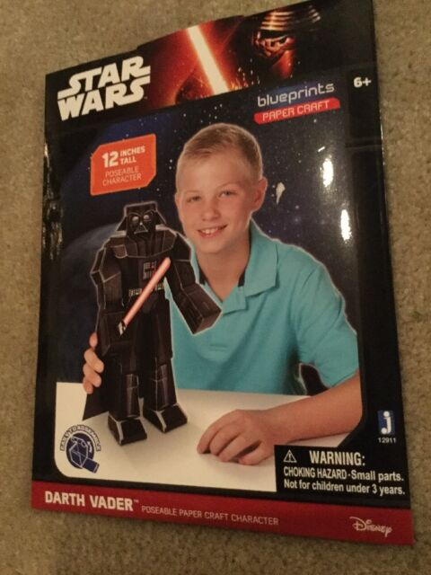 Star wars blueprint paper craft kit chewbacca darth vader and star wars blueprint paper craft kit darth vader new in packaging nwt malvernweather Gallery