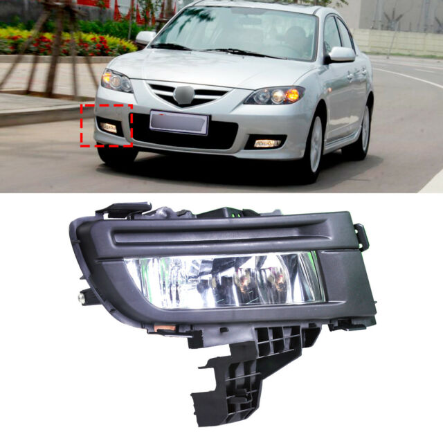 12V 51W Front Right Fog Light Lamp 9006 for Mazda 3 2007 2008 2009 Replacement