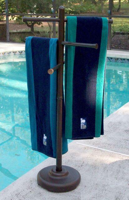 Portable Pool Towel Rack Outdoor Spa Hot Tub Swimming