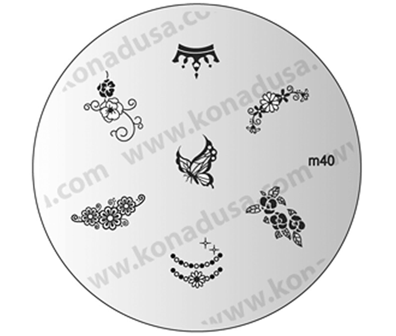 1 Image Plate M40 KONAD Stamping Nail Art Design Nails   eBay