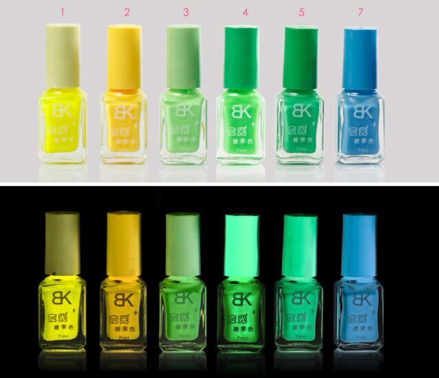 7ml Candy Colors Fluorescent Neon Luminous Nail Art Polish Glow in ...