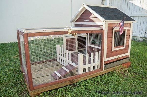 outdoor indoor rabbit cage hutch pet lodge bunny wire. Black Bedroom Furniture Sets. Home Design Ideas