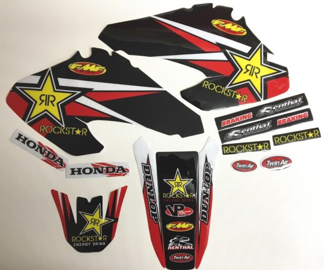NEW Team Rockstar Honda Graphics XR70 XR80 XR100 2001-2003 Graphic Kit