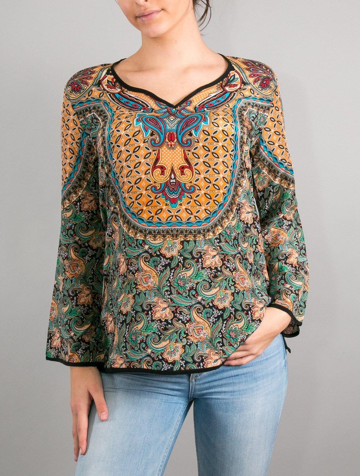 Tolani Womens Salina Topk Turquoise - Shirts & Tops