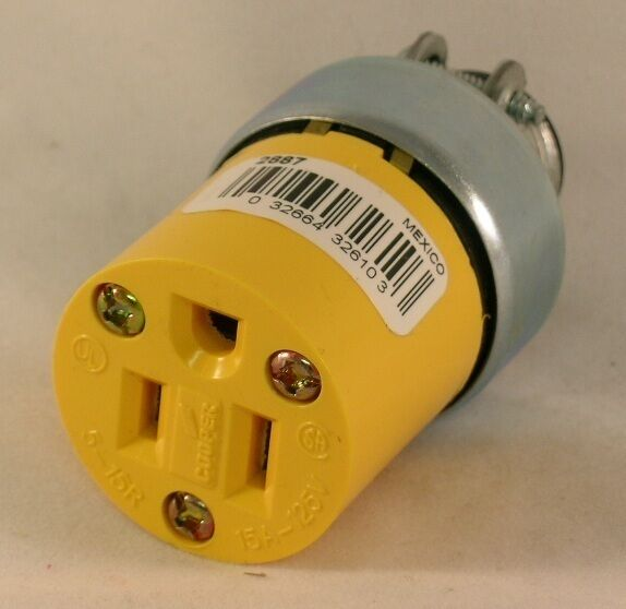 Eagle Electric Cooper Wiring Devices P/n 2887 NEMA 5-15 Receptacle ...