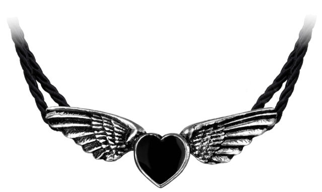 Alchemy gothic coeur noir black winged heart pendant necklace p410 genuine alchemy gothic pendant coeur noir ladies alternative necklace aloadofball Gallery