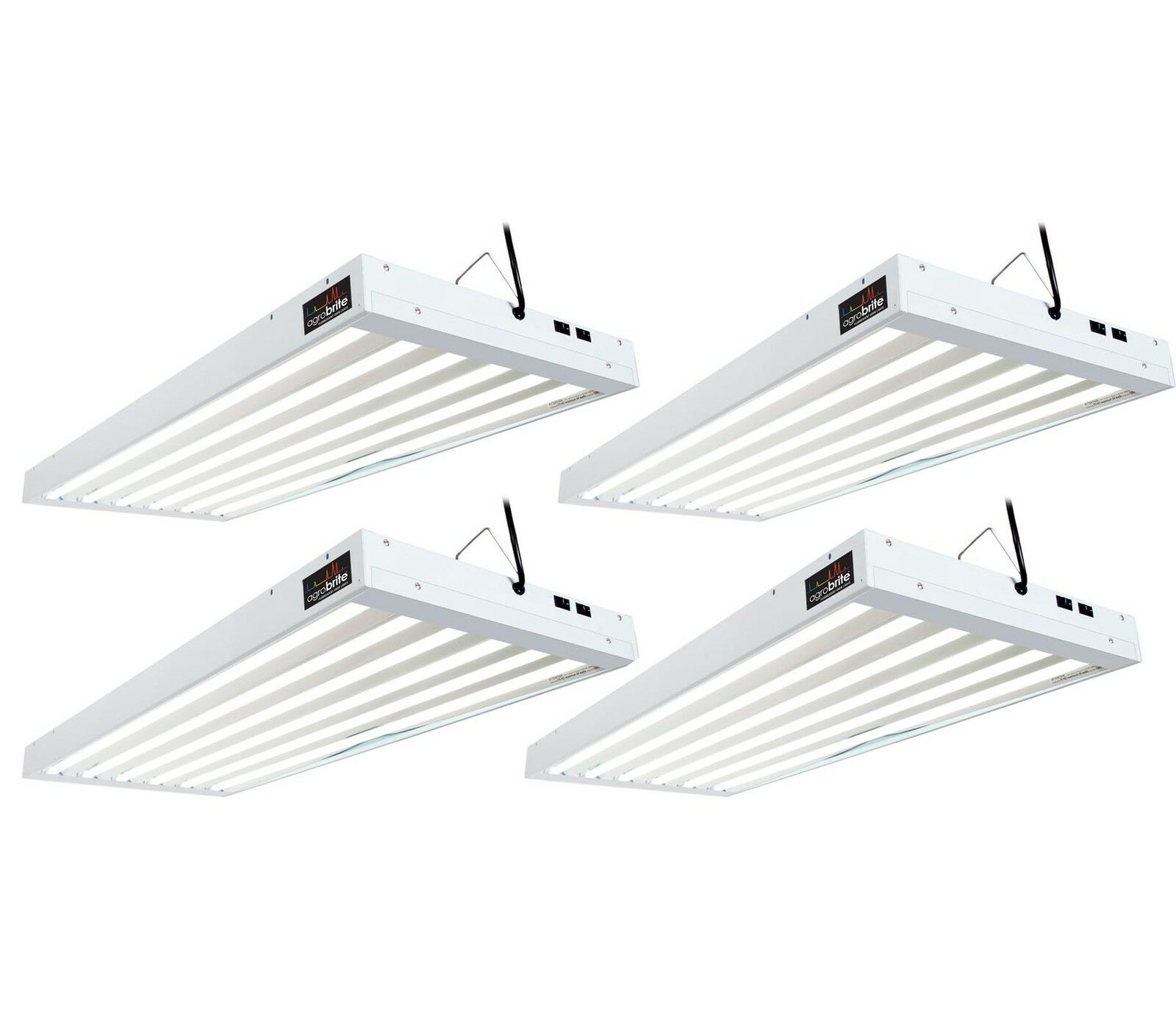 4 hydrofarm flt46 ho t5 4 ft 6 tube fluorescent light fixtures w picture 1 of 3 arubaitofo Image collections
