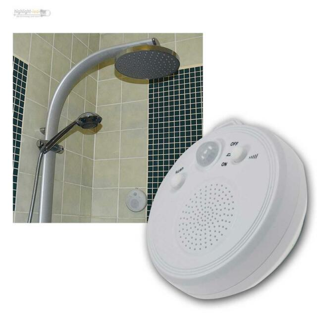 radio motion detector shower with pir sensor and suction cup wandradio bathroom - Bathroom Radio