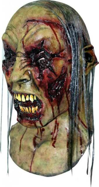 MENS EVIL DEAD ZOMBIE LATEX RUBBER MASK NECK ADULT SCARY OVERHEAD NEW HALLOWEEN