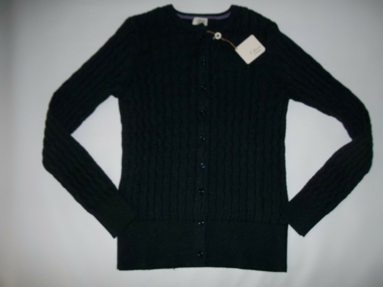 Clover by Bobby Jones Golf Navy Cable Knit Cardigan Sweater Womens ...