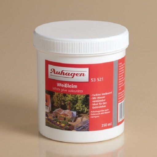 AUHAGEN 53521 Tin White Glue Colorless, 0,25 Liter (1 Liter =