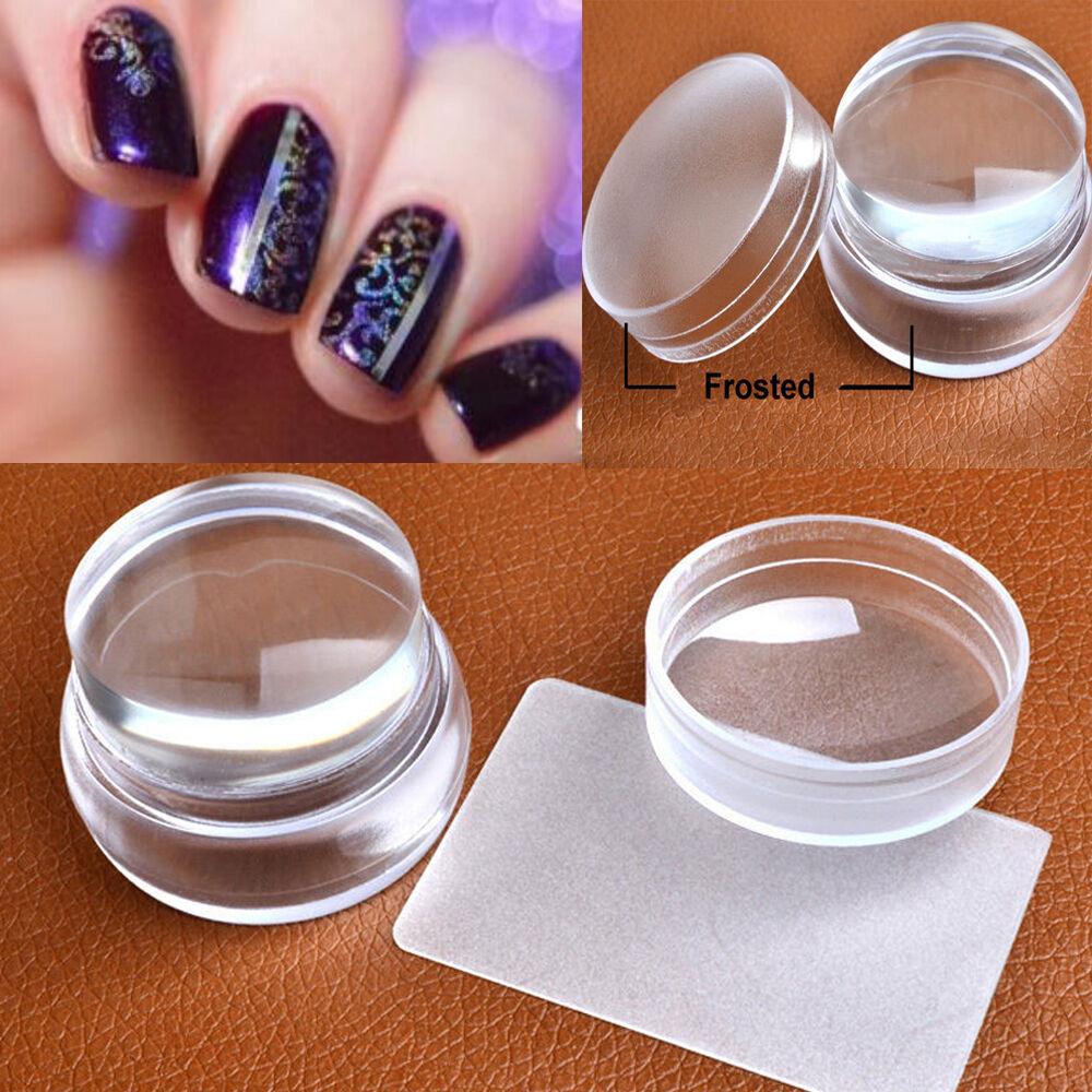 Transfer Manicure Transparent DIY Scraper Plate Nail Art Stamper ...