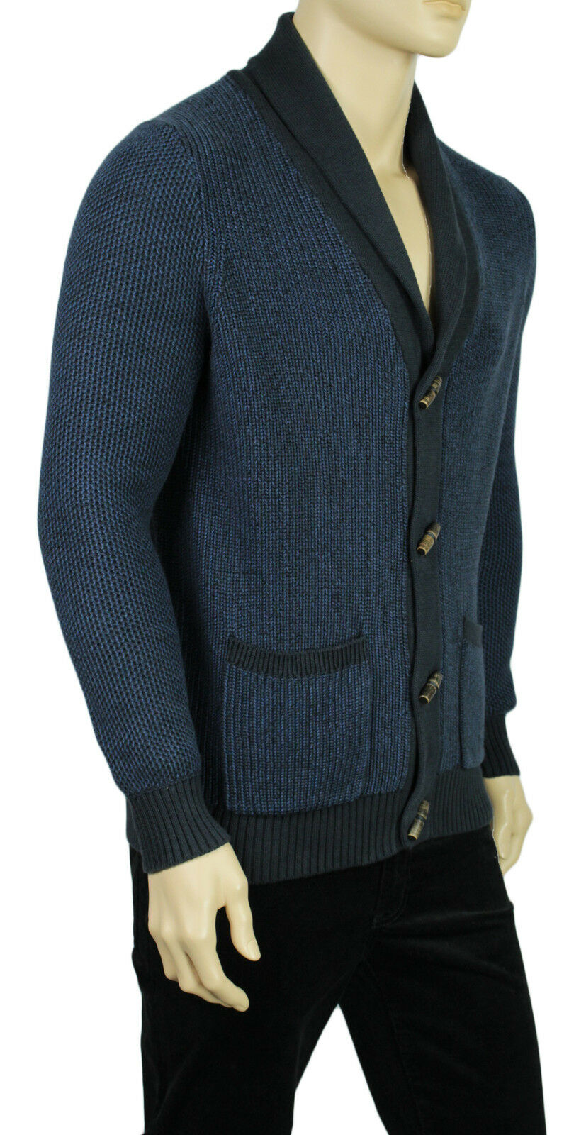 Nautica Navy Blue Mens Size Small S Toggle-button Sweater Cardigan ...