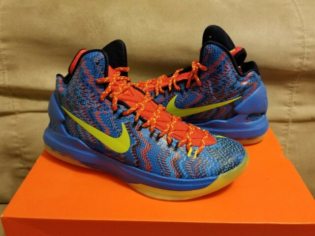 Fast Shipping Nike Kevin Durant KD 5 Cheap sale Green Red 554988