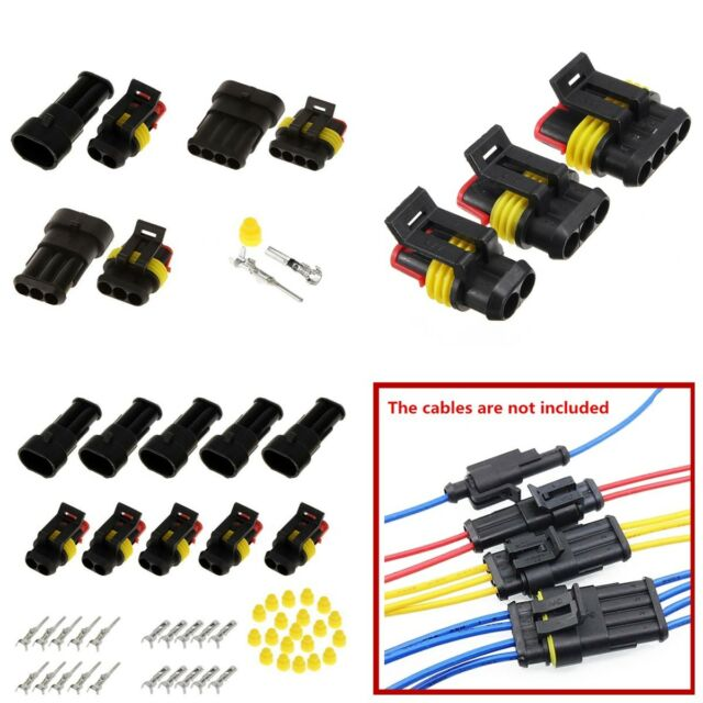 Waterproof 2 3 4 Way Car Auto Motorcycle Electrical Wire Connector ...