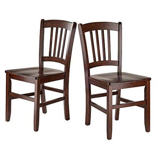 sc 1 st  eBay & Winsome Wood 94245 Madison 2-pc Set Slat Back Chairs Walnut | eBay