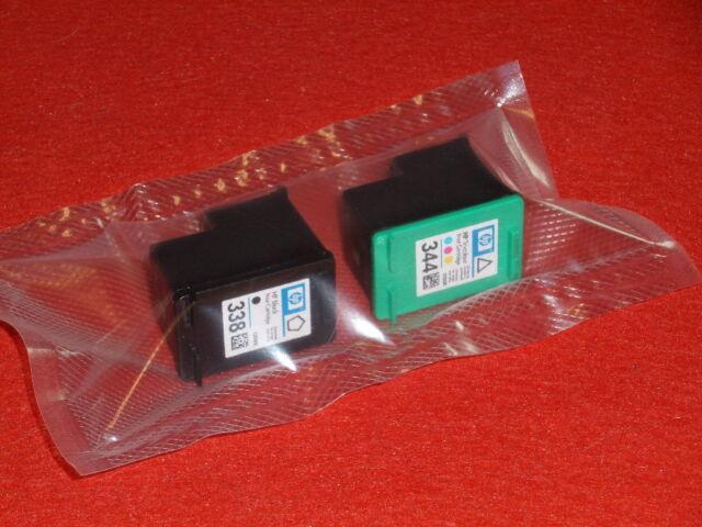 Orig. Druckerpatronen HP 338 Black + HP 344 Color Neu + Rechnung