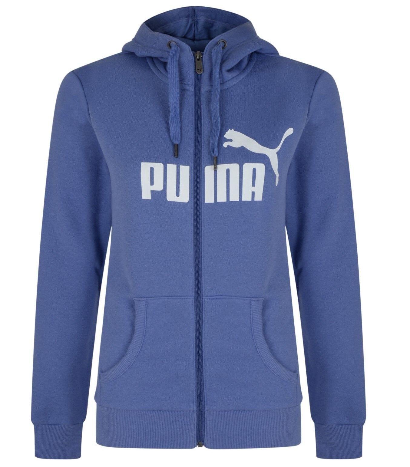 Ladies Women's PUMA Zip Hoody Hooded Sweater Hoodie Jumper ...