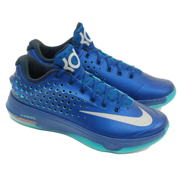 Nike KD 7 Elite Elevate Sneakers (Trsr Bl/Metallic Silver-Black-Pht Bl)