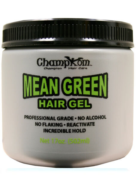 Champkom Champion Mean Green Hair Gel 17 Oz Alcohol Free Non Flaking