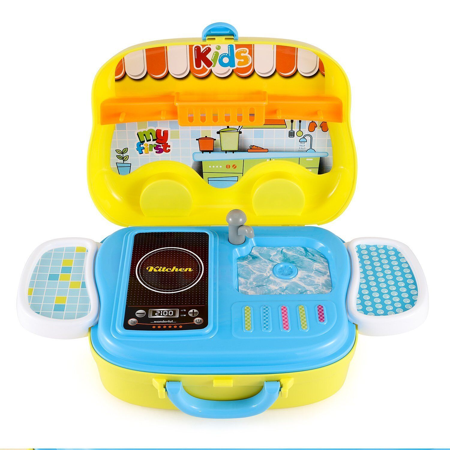 Pretend Play Kitchen Set for Children Includes Carrying Case - Best ...