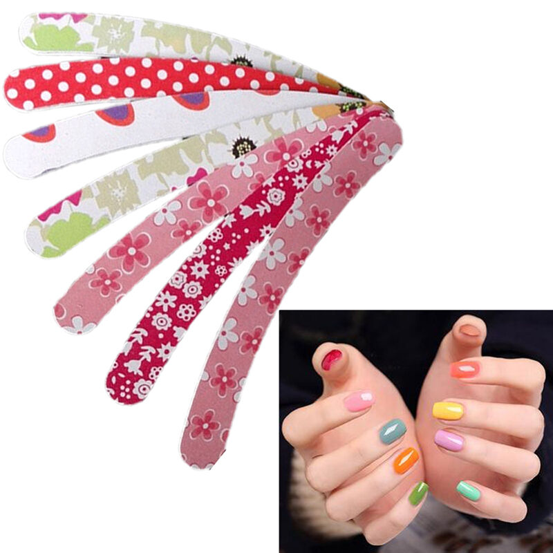 10pcs Double Sided Curve Nail Emery Boards Files Buffer Pedicure ...