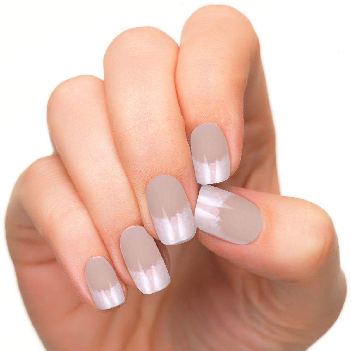 Set 24pcs French Acrylic False Nail Art Tips Full Nails Manicure Pre ...