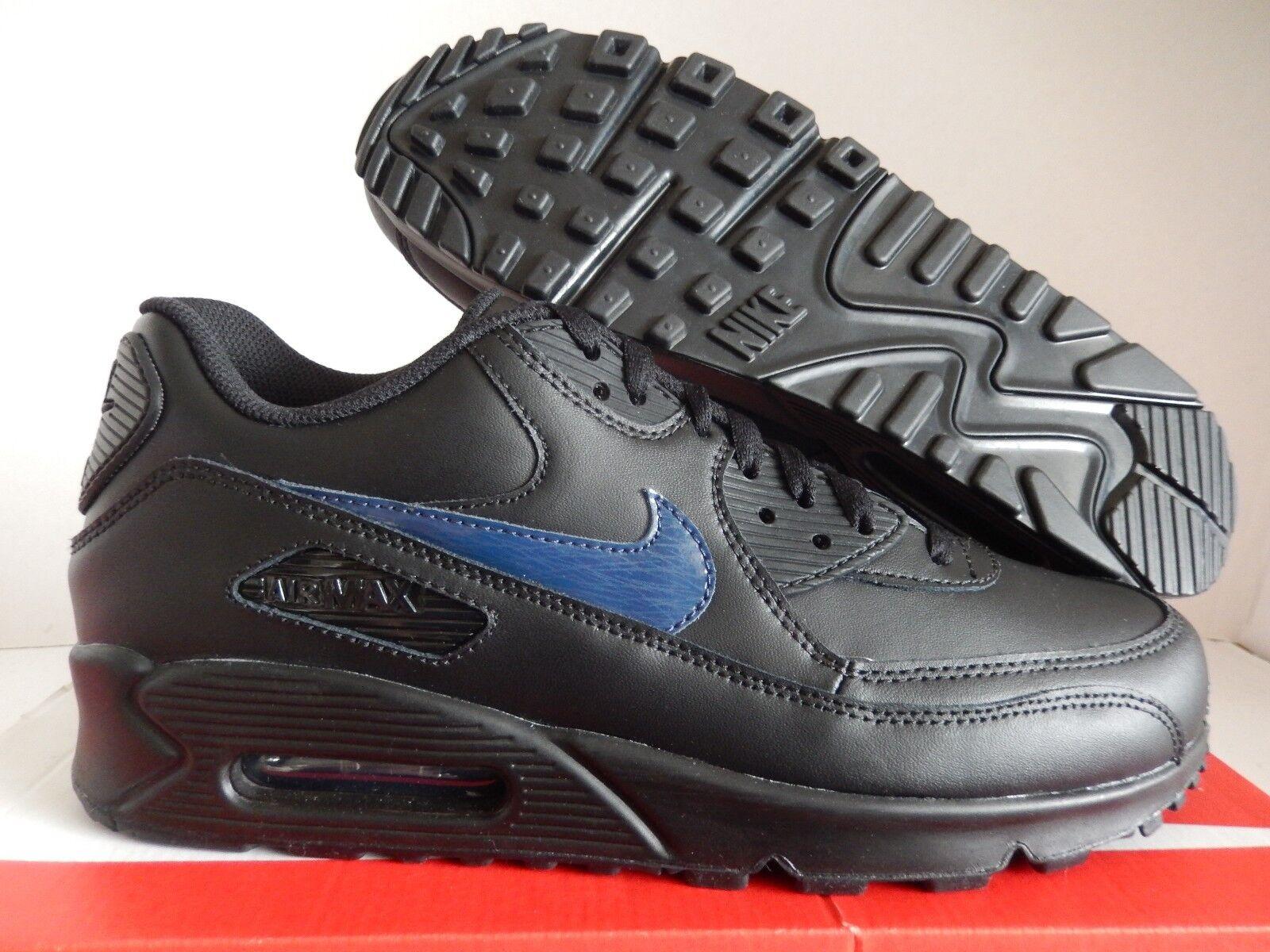 NIKE AIR MAX 90 ID BLACK-BLUE SZ 9.5 [931902-994]