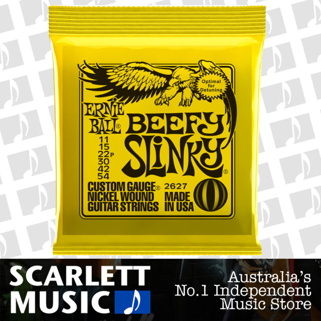 Ernie Ball 2627 Beefy Slinky 11-54 Electric Guitar Strings *BRAND NEW*