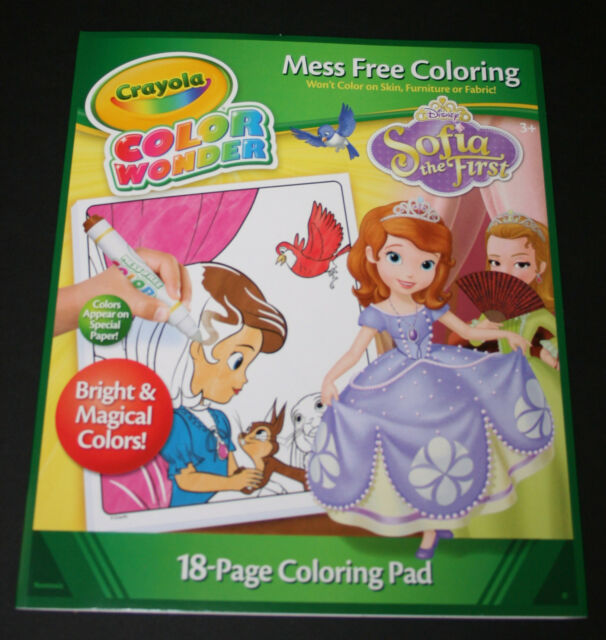 Crayola Color Wonder Coloring Pad Sofia The 1st 75-0239 | eBay