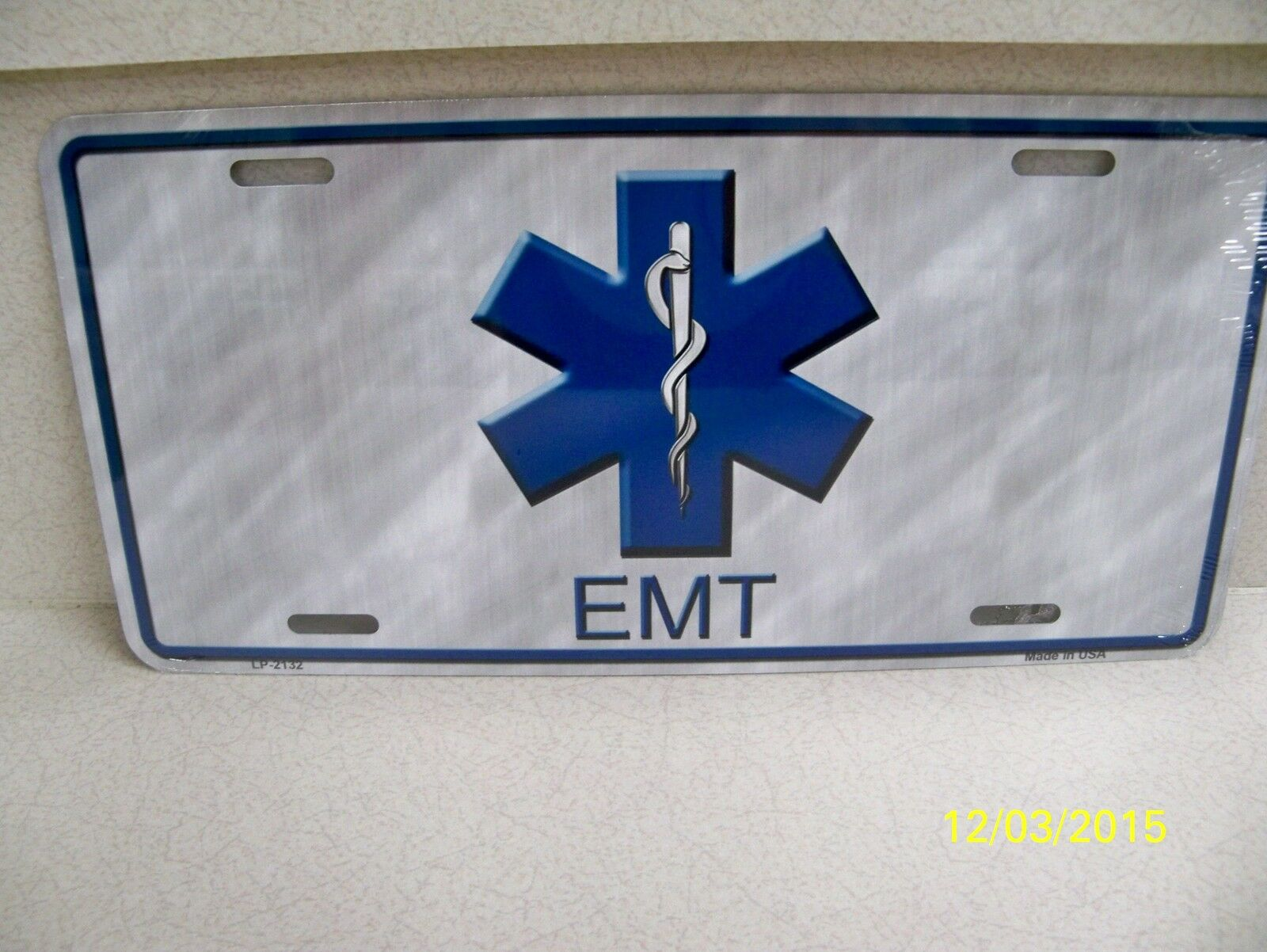 Emt emergency medical technician license plate ebay picture 1 of 4 xflitez Choice Image