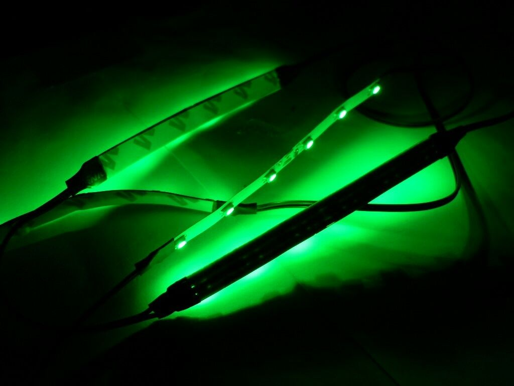 Rc green led strip lights superbright underglow car truck drift picture 1 of 2 mozeypictures Image collections