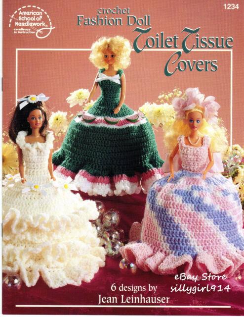 Ja009 American School Of Needlework 1997 Crochet Fashion Doll Toilet