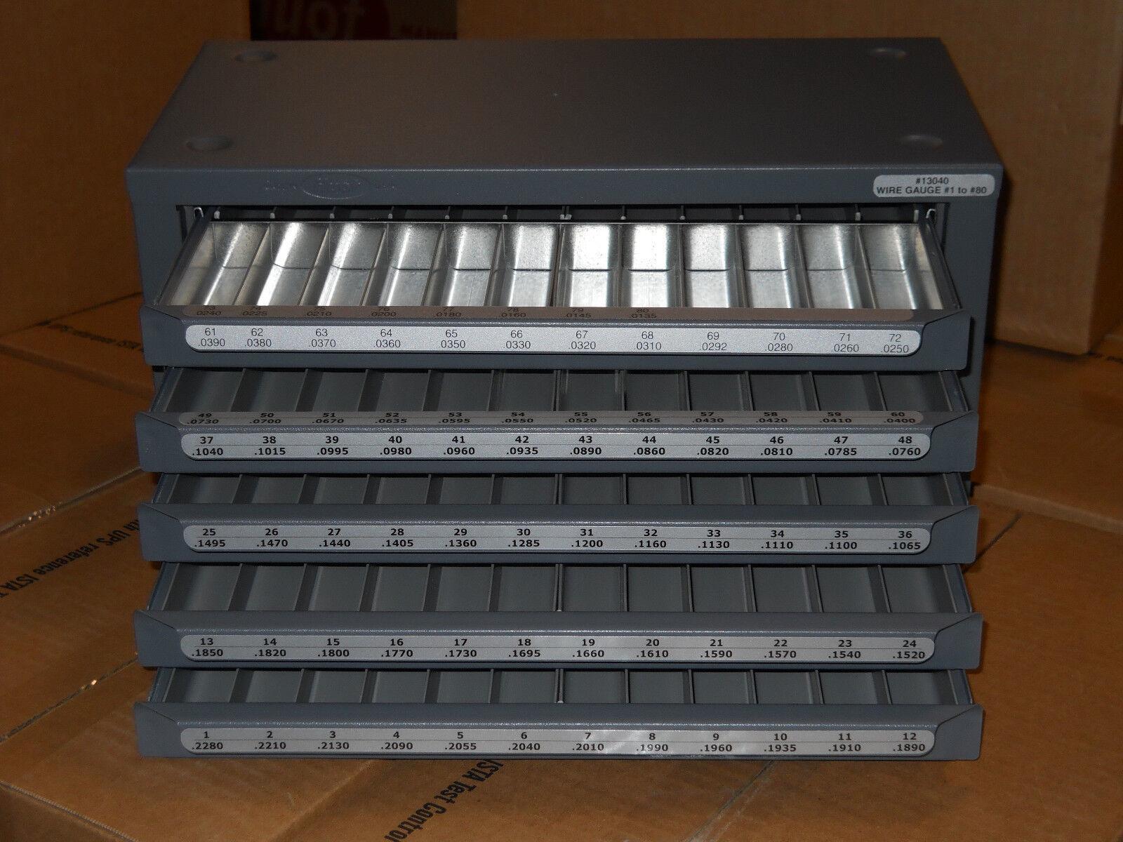 Huot 13040 Model 1-80 Wire Size Screw Machine Length Drill Bit ...