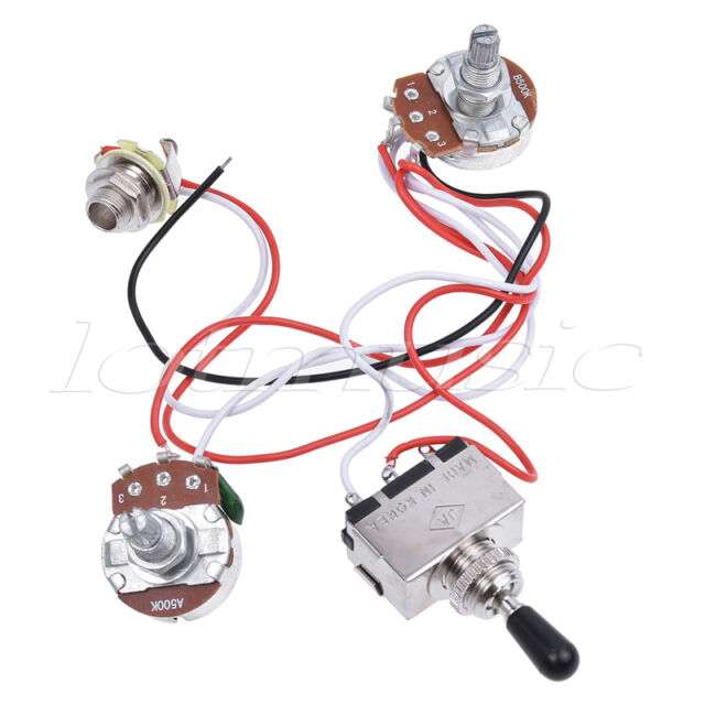 Electric Guitar Wiring Harness Kit 3 Way Toggle Switch 1v1t for Les