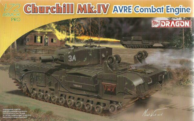 Dragon 1/72 (20mm) Churchill Mk.IV AVRE Schlacht Ingenieur