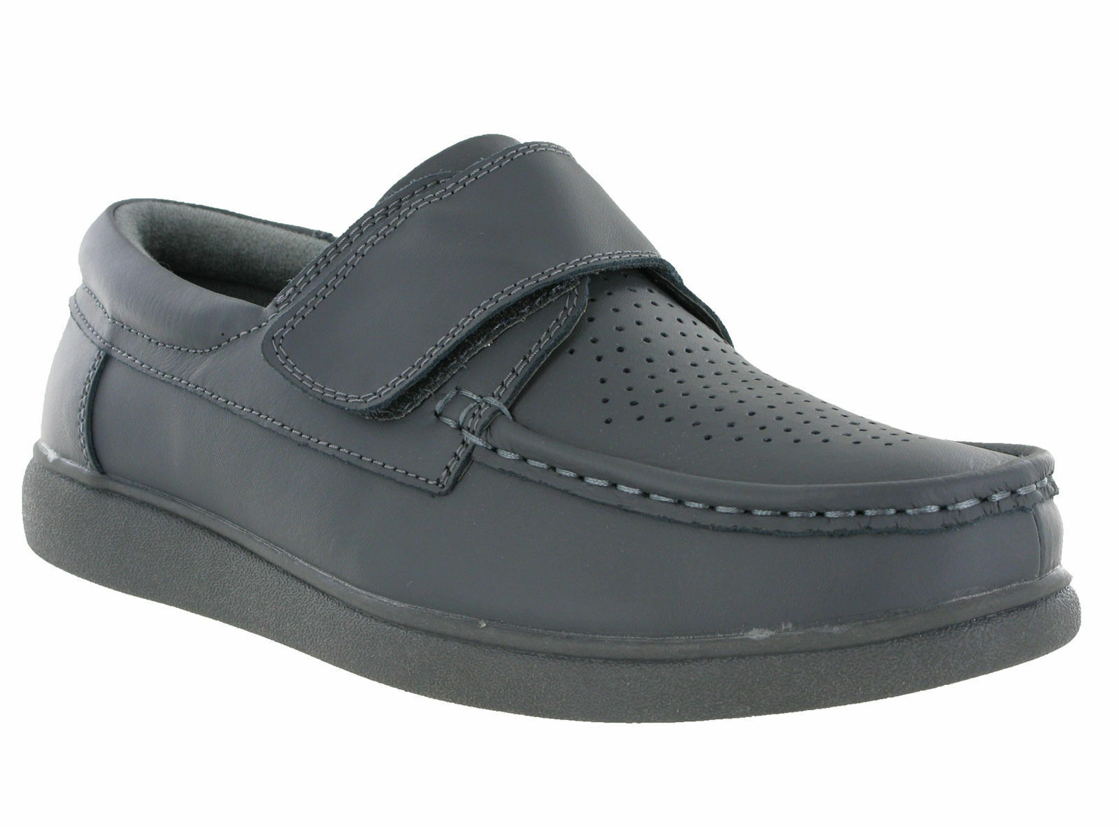 Unisex DEK Touch Fasten Leather Bowling Shoes Grey Leather