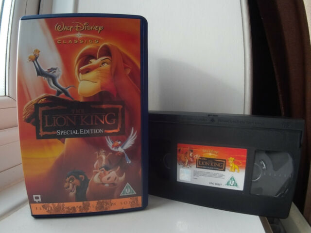 The Lion King (1994) Special Editon Disney's 32nd animated classic Disney VHS
