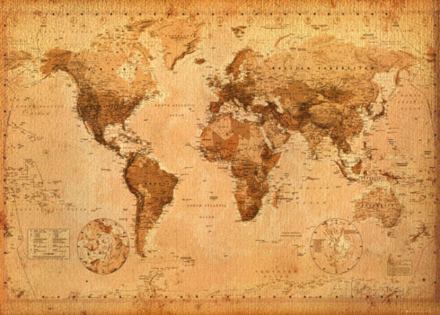 World map antique giant poster print 55x39 world map ebay world map antique giant poster print 55x39 world map gumiabroncs Choice Image
