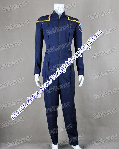 Star Trek Cosplay Kirk Enterprise Costume Archer Jumpsuit Uniform Suit  Outfit Male L | eBay
