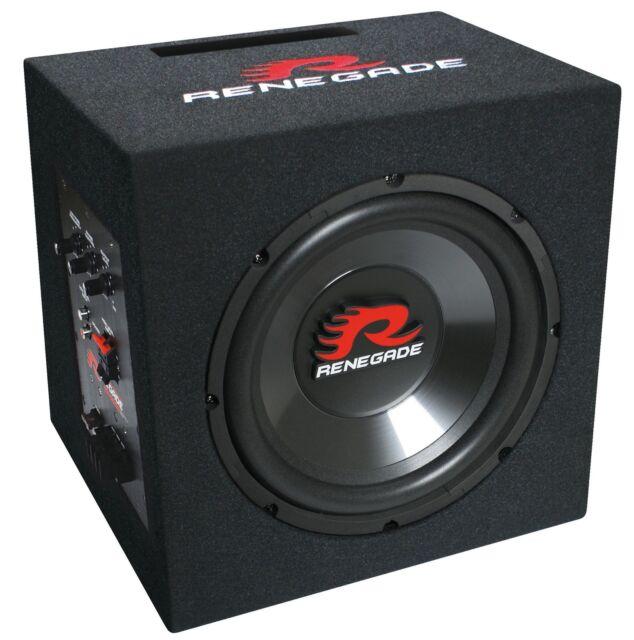 Renegade RX1000A Aktiv Subwoofer mit eingebauten Verstärker / Aktiv Bass Sub