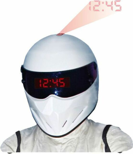 NEW IN BOX Top Gear Stig Helmet Projection Alarm Clock