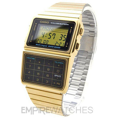 **NEW** CASIO DATABANK CALCULATOR RETRO GOLD WATCH - DBC-611G-1DF - RRP £75