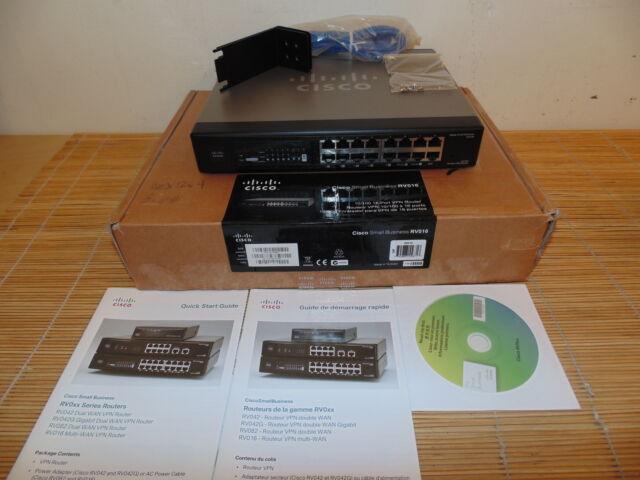 NEU Cisco  RV016 Multi WAN VPN Router V03 one  DMZ, two WAN ports NEW OPEN BOX