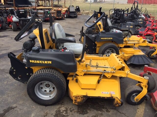 Used hustler zero turn mowers