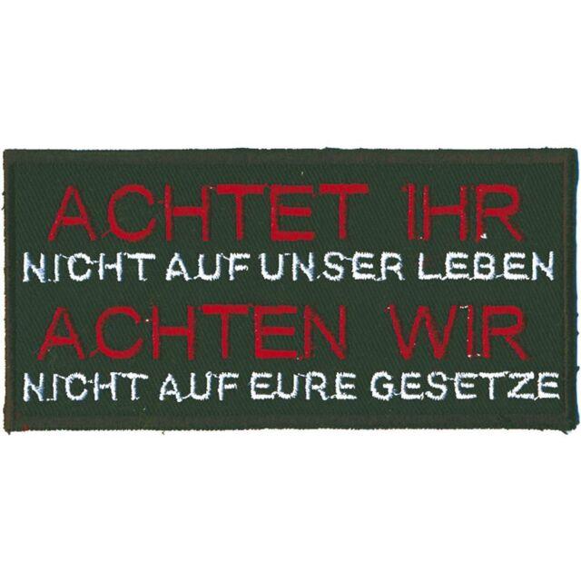 (06004) Aufnäher Patches Applikation Wappen 10,5 x 5 cm ☆ ACHTET IHR...! ☆