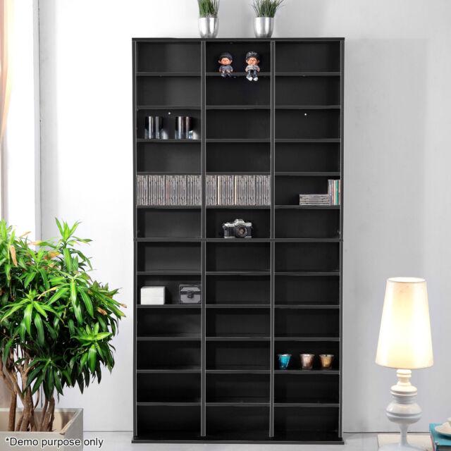 CD/DVD Storage Shelf Bluray Media Stand Book Cupboard Rack Unit Shelves