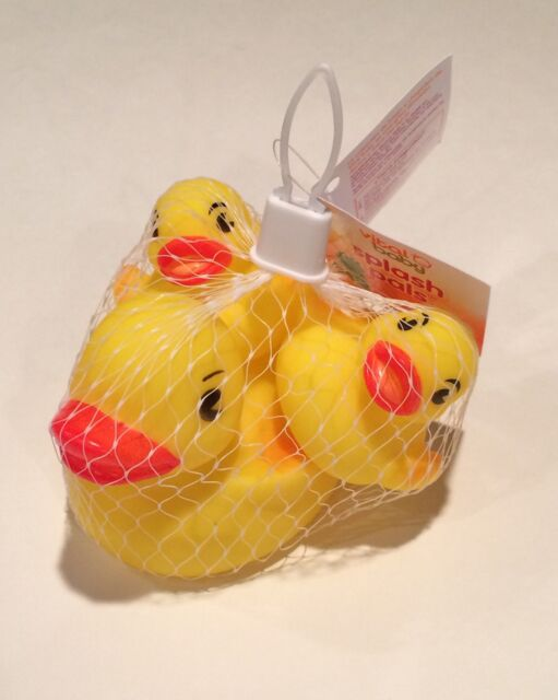 Rubber Ducky Bath Toy Party Favor Set of 3 1 Large & 2 Small Yellow ...